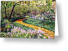 Deep Forest Garden Greeting Card by David Lloyd Glover