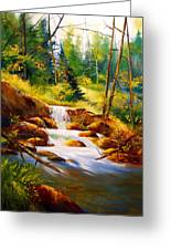 Deep Woods Beauty Greeting Card by Robert Carver