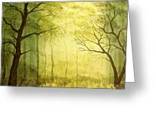 Deep Woods Greeting Card by Heather Matthews