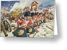 Defence Of Corunna Greeting Card by C L Doughty