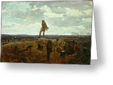 Defiance - Inviting A Shot Before Petersburg Greeting Card by Winslow Homer