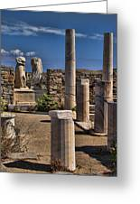Delos Island Greeting Card by David Smith