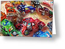 Demo Derby One Greeting Card by Jame Hayes