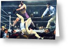 Dempsey And Firpo Greeting Card by Pg Reproductions