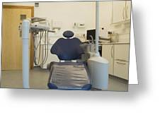 Dentist Chair Greeting Card by Iain Sarjeant
