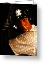 Derek Jeter - New York Yankees - Baseball  Greeting Card by Lee Dos Santos