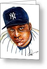Derek Jeter Greeting Card by Dave Olsen