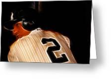 Derek Jeter II- New York Yankees - Baseball  Greeting Card by Lee Dos Santos