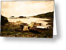 Derelict Boat In Outer Hebrides Greeting Card by Jasna Buncic