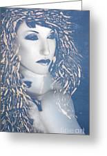 Desdemona Blue - Self Portrait Greeting Card by Jaeda DeWalt
