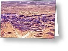 Desert Crater Greeting Card by Jenn Bodro