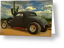 Desert Hot Rod Greeting Card by Jerry L Barrett