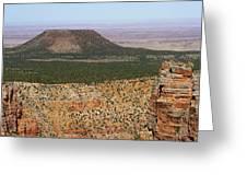 Desert Watch Tower View Greeting Card by Julie Niemela