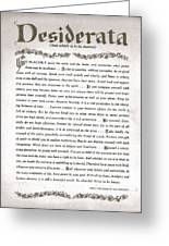 Desiderata 3 Greeting Card by Claudette Armstrong