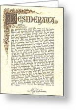 Desiderata 4 Greeting Card by Claudette Armstrong