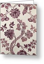 Design For A Silk Damask Greeting Card by Anna Maria Garthwaite