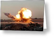 Detonation Of A Weapons Cache Greeting Card by Stocktrek Images