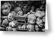 Devil Dolls Greeting Card by Michael Avory