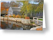 Dexter's Grist Mill Greeting Card by Catherine Reusch  Daley