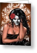 Dia De Los Muertos Remix Greeting Card by Pete Tapang