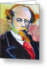 Dickens Greeting Card by Les Leffingwell