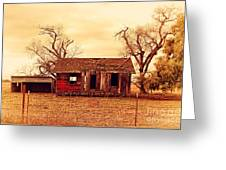 Dilapidated Old Farm House . 7d10341 Greeting Card by Wingsdomain Art and Photography