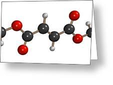 Dimethyl Fumarate Allergen Molecule Greeting Card by Dr Mark J. Winter