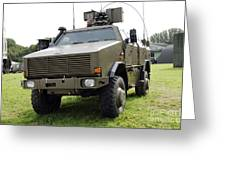 Dingo II Vehicle Of The Belgian Army Greeting Card by Luc De Jaeger