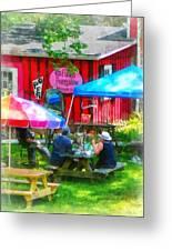 Dining Al Fresco Greeting Card by Susan Savad