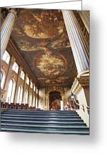 Dining Hall At Royal Naval College Greeting Card by Anna Villarreal Garbis