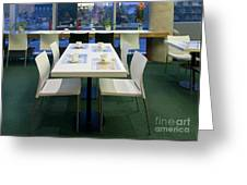 Dining Table In An Upscale Cafe Greeting Card by Jaak Nilson