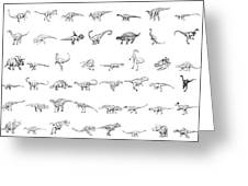 Dinosaur Collection Greeting Card by Karl Addison
