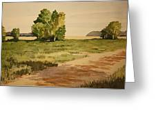 Dirt Road 1 Greeting Card by Jeff Lucas