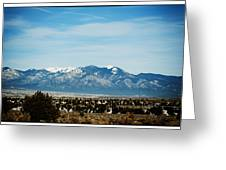 Distant Mountains Greeting Card by Lisa  Spencer