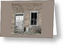 Distressed Facade Greeting Card by John Stephens