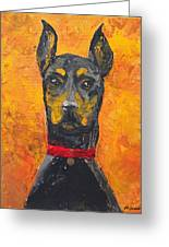 Dobie Girl Greeting Card by Veronica Zimmerman