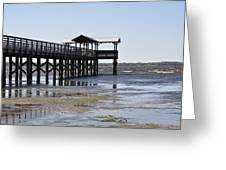 Dock At Low Tide Greeting Card by Tiffney Heaning