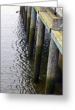 Dock Of The Bay  Greeting Card by Pamela Patch