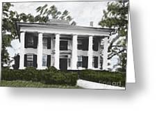 Dodd House Georgia Plantation Greeting Card by Lianne Schneider