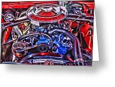 Dodge Motor Hdr Greeting Card by Randy Harris