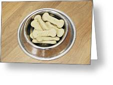 Dog Biscuits Greeting Card by Johnny Greig