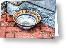 Doggie Dish Greeting Card by Debbi Granruth
