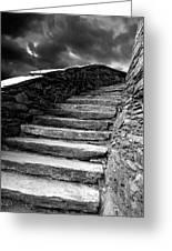 Dolbadarn Castle Steps Greeting Card by Duncan Rowe