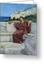 Dolce Far Niente Greeting Card by Sir Lawrence Alma-Tadema