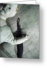 Doll With Knife Greeting Card by Joana Kruse