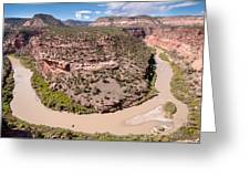 Dolores River Bend Greeting Card by Josh Whalen