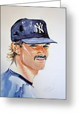 Don Mattingly Greeting Card by Brian Degnon