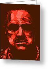 Don Vito Corleone Greeting Card by Giuseppe Cristiano