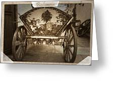 Donkey Cart Greeting Card by Cliff  Norton