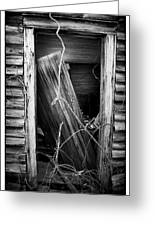 Door Bw Greeting Card by Mark Wagoner